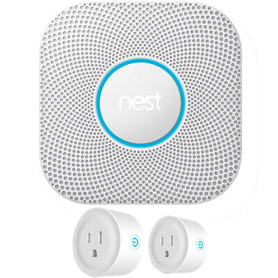 Google Nest Protect Wired Smoke and Carbon Monoxide Alarm 2nd Gen. + 2 Pack Smar