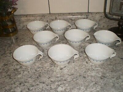 8 CORELLE SNOWFLAKE HOOK CUPS AND CREAMER  EUC!  Free Shipping!
