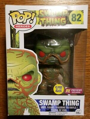 Funko Pop! Heros: Swamp Thing #82. PX Previews Exclusive Glow in the Dark! NIB.