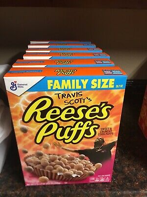 Travis Scott x Reese's Puffs cereal - Look Mom I Can Fly (Family Size) 5pk