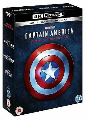 CAPTAIN AMERICA 1-3 Movie Collection [4K Ultra HD + Blu-ray] Marvel Trilogy UHD
