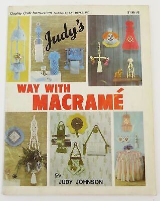 Vintage 1979 Judy's Way with Macrame Instruction Book