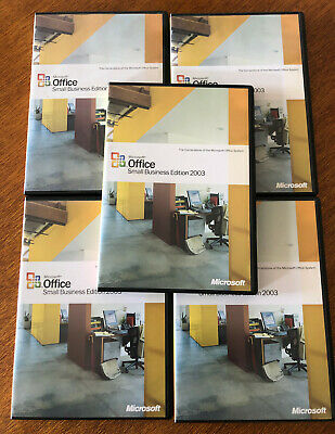 Microsoft Office 2003 Small Business Edition x5 - Brand New