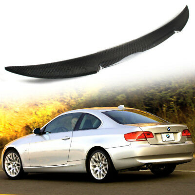 Carbon BMW E92 Coupe 2DR 3-Series M4 Look High Kick Trunk Boot Spoiler 335is