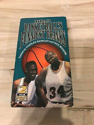 NBA Pro Basketball's Funniest Pranks Vol 3 (1993, VHS)  Charles Barkley- Works