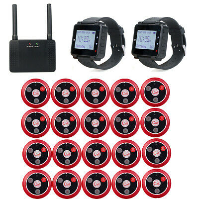 Restaurant Wireless Guest Calling System 20 Coaster Pagers+Signal Repeater 999CH