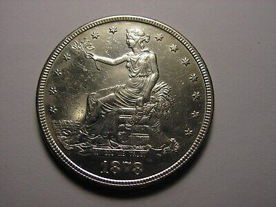 1878 - S Trade Silver Dollar, Has Proof Like Shine. Looks To Be In AU/Unc. Cond.