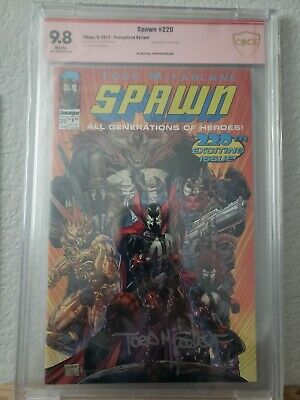 Spawn 220 Youngblood variant CBCS SS 9.8 Todd Mcfarlane Image not CGC