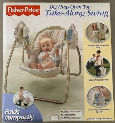 NEW Fisher-Price Big Hugs Open Top Take-Along Swing