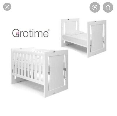 Grotime Rollover 5 in 1 Convertible Cot with Cot mattress