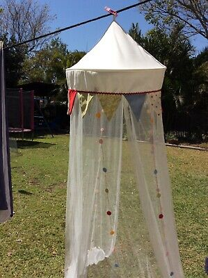 Circus themed Cot Canopy Mozzie Net Protection Used