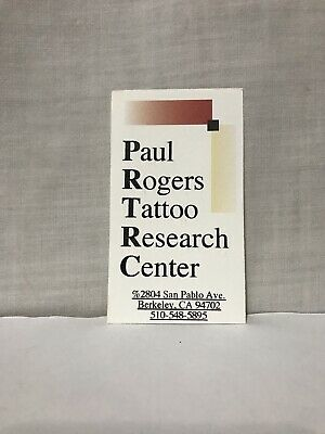 Paul Rogers Tattoo Research Center Business Card- Sideshow, Art, Flash, History