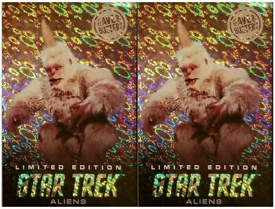 TWO Dave & Busters STAR TREK Aliens LIMITED EDITION foil MUGATO X2 FREE SHIPPING