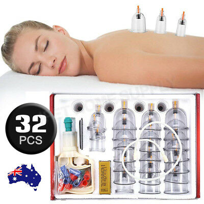 Cupping Therapy Sets Chinese Acupoint Suction Massage Kit Vacuum Magnetic Pump