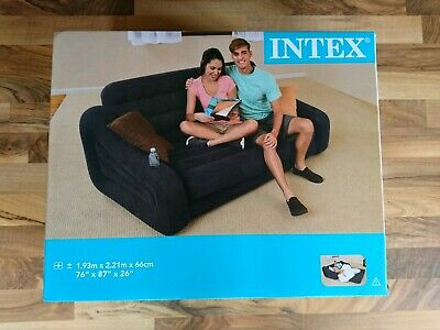 Intex Inflatable Two Person Pull-Out Sofa Bed Home Camping Double