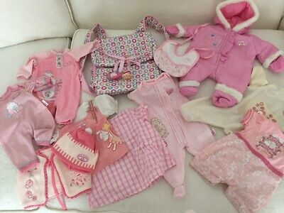 Zapf Creation Baby Annabell Dolls Clothes Bundle will fit Baby Born too