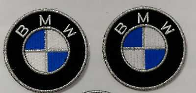Bmw Logo Kit 2 Toppe Patch Ricamate Termoadesive Diametro 5 Cm