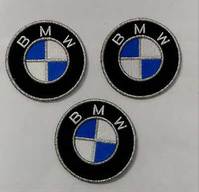 Bmw Logo Kit 3 Toppe Patch Ricamate Termoadesive Diametro 6 Cm