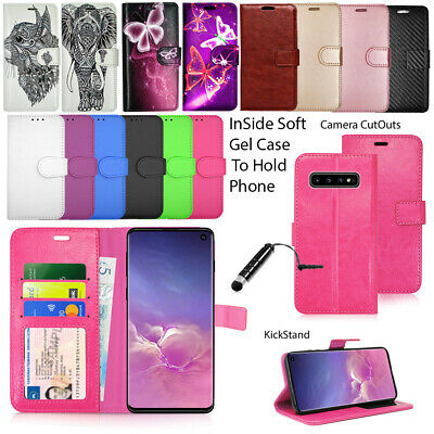 For Samsung Galaxy S10 SM-G973f Phone Case Wallet Leather Cover Flip Book Stand