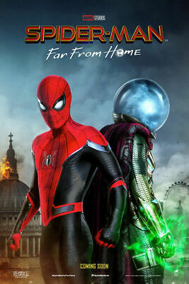 Spider man Far From Home Movie Art Silk Canavs Poster Wall Art Print 24x36inch