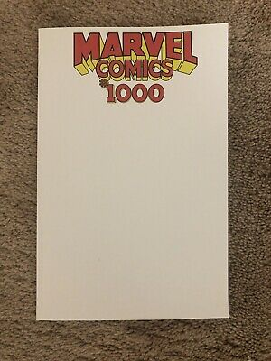 Marvel Comics #1000 - BLANK  variant - NM+ 1st print  historic KEY issue