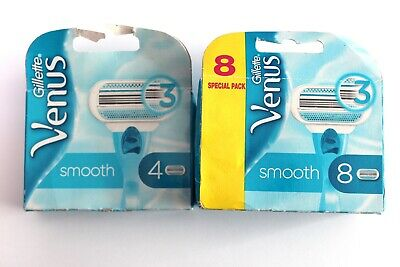 Gillette Venus Smooth Razor Blades - Replacement Blades - Choose Amount