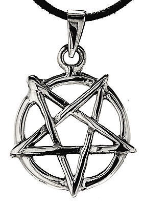No 252: Pentagram 925 Silver Pendant Pentagram with Ring Black Magic Satan