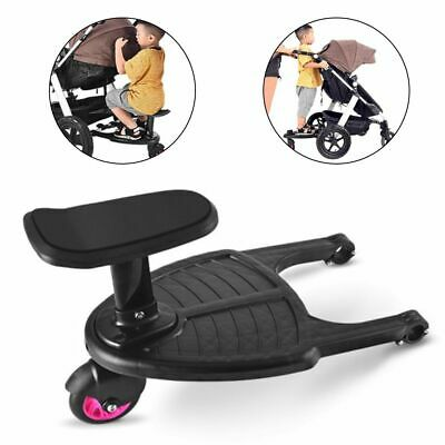 Kids Standing Plate Sitting Seat Baby Stroller Auxiliary Pedal Children Trailer