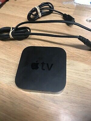 Apple TV (3rd Generation) HD Media Streamer - A1469 Mains and HD cable.