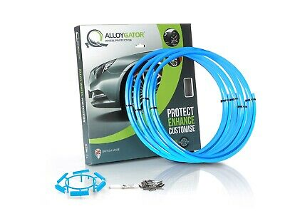 """Set of 4 AlloyGator Wheel Protection Original Sky Blue Fit 12"""" to 24"""""""