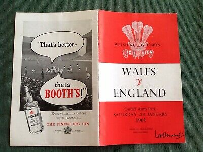 Wales v England 19 Jan 1957 Cardiff Arms park  official rugby programme