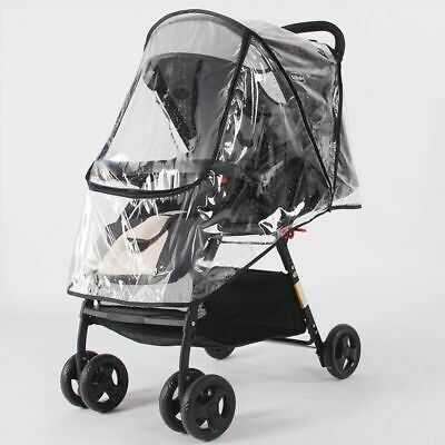 Baby Stroller Transparent Raincoat Rainproof Rain Cover Wind Shield Accessories