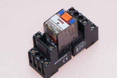 Schrack Relay Load Relays PT270L24 + Socket PT78702