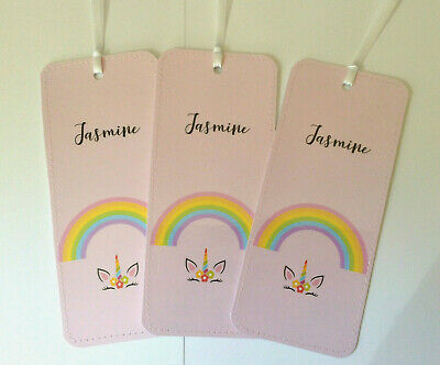3x Personalised Bookmarks Birthday Christmas Party Stocking Filler Teacher Gift