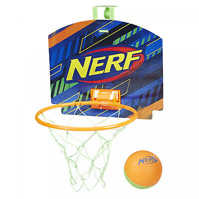Sports Oop Basketball Blue Kids with Backboard Hooks Doors Foam Ball Metal Clip