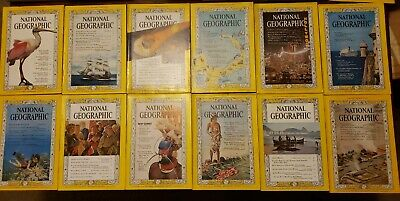 NATIONAL GEOGRAPHIC 1962 Complete 12 Issues, April Issue Missing Map, COKE ads