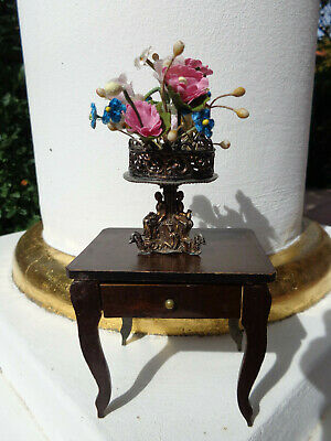 Antique dollhouse boulle furniture dated 1900 for mignonette