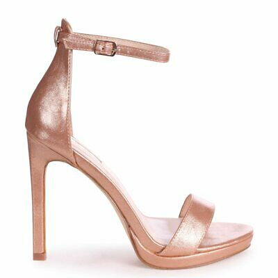 Boutique Barely There High Heel Stiletto Sandals Shoes Brand New SR76
