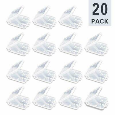 20 Pack Transparent Standard SD SDHC Memory Card Case Holder Box Storage Plastic