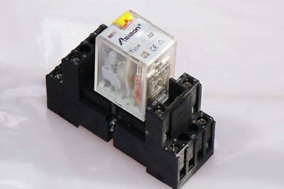 Asiaon Relay Type: 57.02 with Base Type: Pcs 152N 10A 250VAC