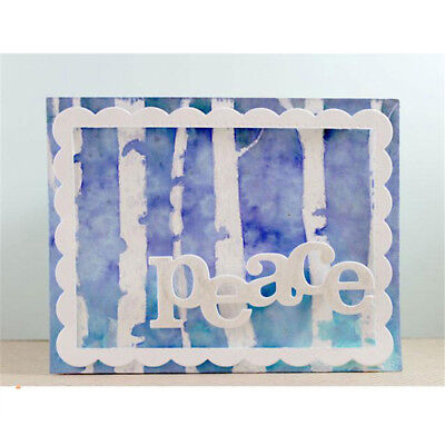 Greeting Words peace Metal Cutting Dies For DIY Scrapbooking Card Craft Decor M&