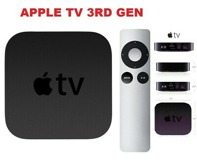 Apple TV 3rd Gen - 8GB  - Media Streamer - WITH REMOTE CONTROL