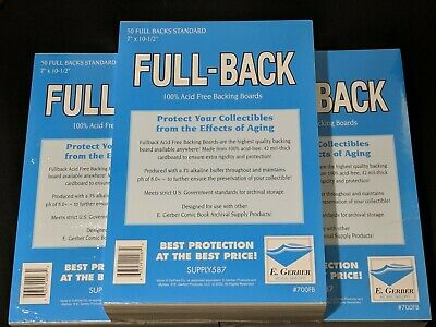 150 E. Gerber FULL-BACK Standard 100% AcidFree 42Mil Archival Comic Boards 700FB