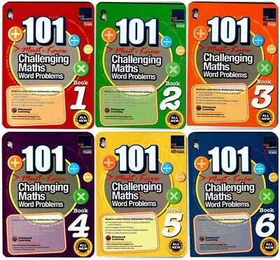 SAP Education 101 Must Know Challenging Maths Word Problems 1 to 6 | All 6 Books