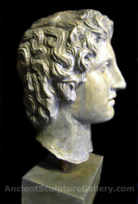 Alexander the Great large bust Sculpture Athens Parthenon Replica Reproduction