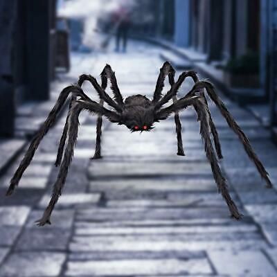200CM/6.6FT Plush Giant Spider Halloween Decoration Haunted House Garden Props