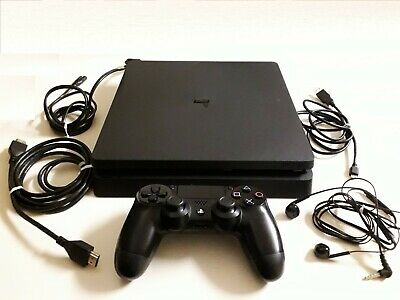 Sony PlayStation 4 Console Slim 500 GB + Controller DualShock 4 PS4 + auricolari