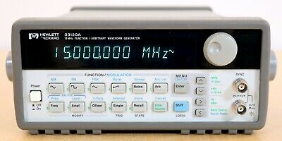 HP / Agilent 33120A Opt 001 15 MHz Function / Arbitrary Waveform Generator Clean