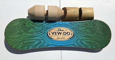 VEW-DO FLOW Balance Board with Roller and Teeter for Surfing Snowboarding Etc.