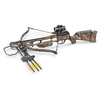 Crosman CenterPoint XR175 Recurve Crossbow Kit, Camo
